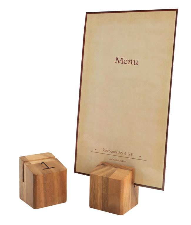 Wood Block Menu Holder Menu Holders Artisan Point Of