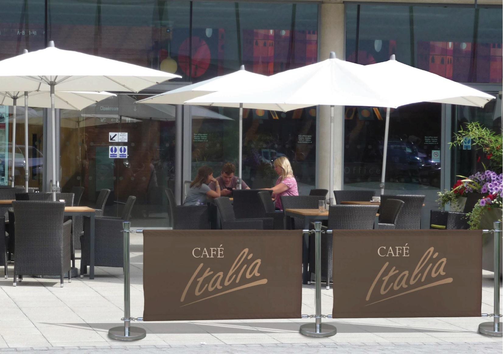 Cafe barrier Cafe Italia