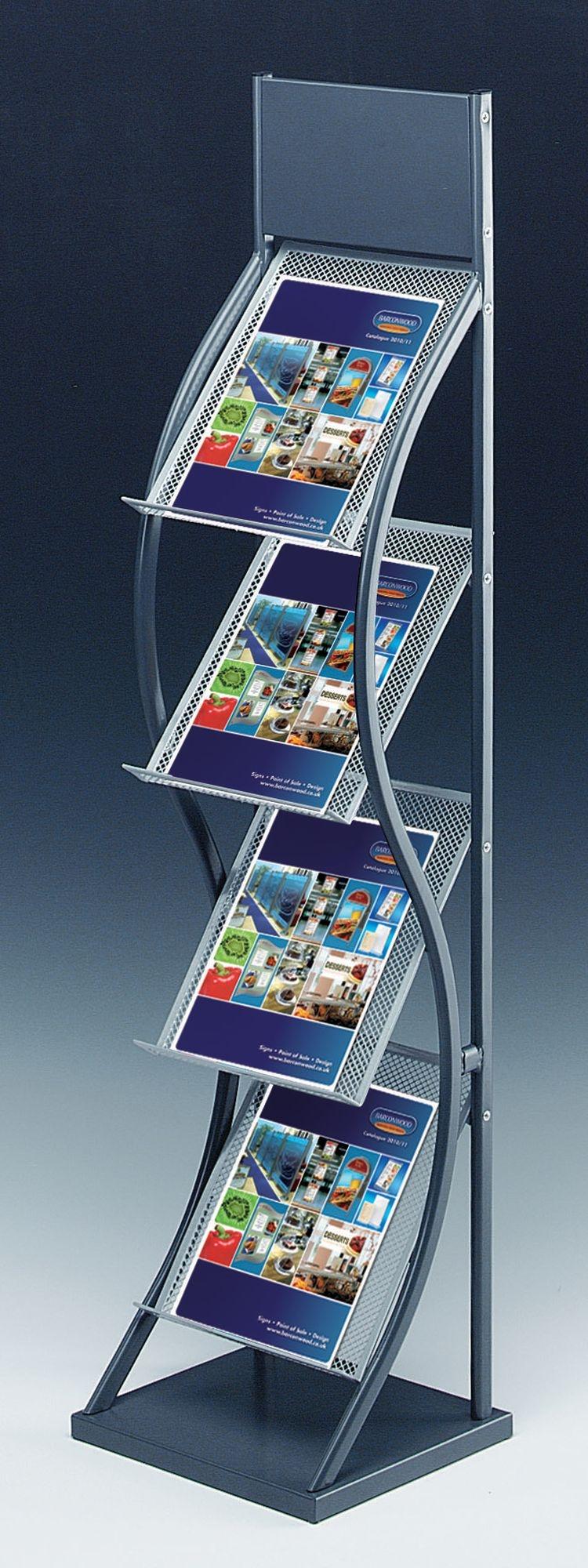 All Metal Brochure Holder Floor Stand Displaysbarconwood