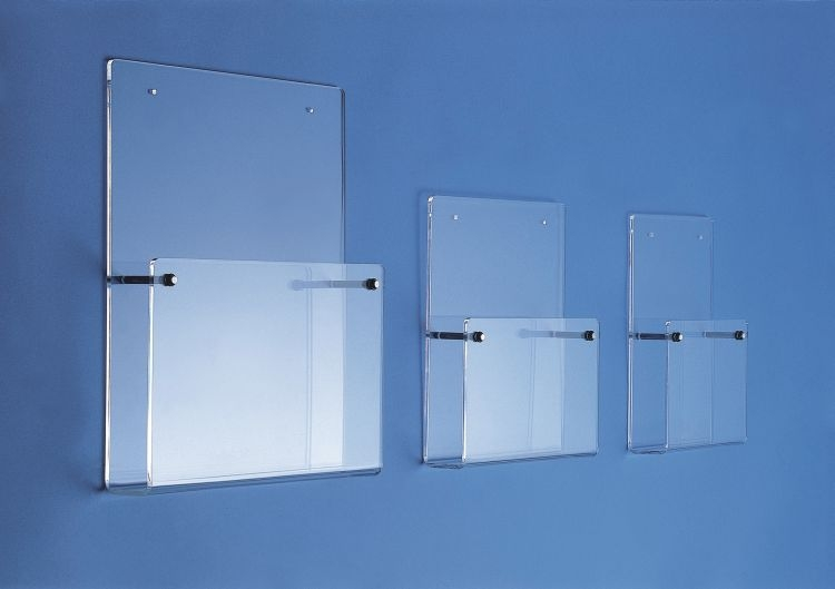 Wall Mounted Leaflet Dispenser With Steel Holders